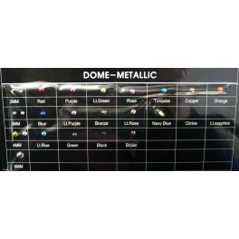 2MM BROWN DOME-METALLIC  (1000Gross)