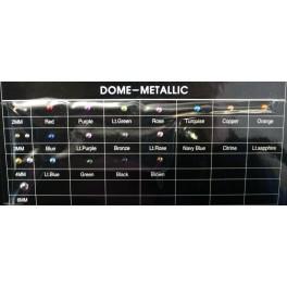 2MM TURQUOISE DOME-METALLIC  (1000Gross)